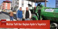 Muhtar Tatlı'dan Başkan Aydın'a Teşekkür