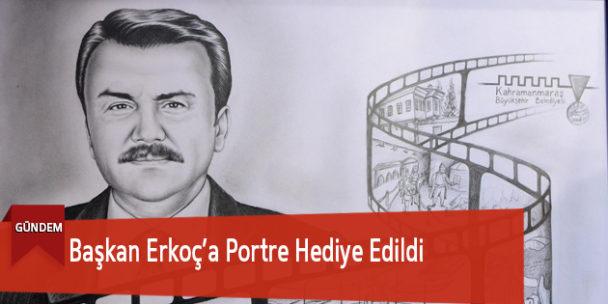 Başkan Erkoç'a Portre Hediye Edildi
