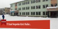 17 Ocak Perşembe Günü Okullar…