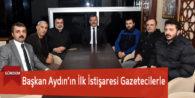 Başkan Aydın'ın İlk İstişaresi Gazetecilerle