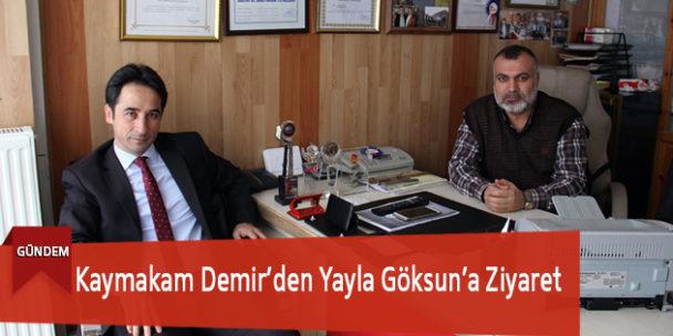 Kaymakam Demir'den Yayla Göksun'a Ziyaret