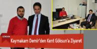 Kaymakam Demir'den Kent Göksun'a Ziyaret