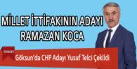 Göksun'da CHP Adayı Yusuf Telci Çekildi