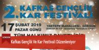Kafkas Gençlik Ve Kar Festivali Düzenleniyor