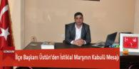 İlçe Başkanı Üstün'den İstiklal Marşının Kabulü Mesajı