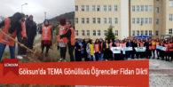 Göksun'da TEMA Gönüllüsü Öğrenciler Fidan Dikti