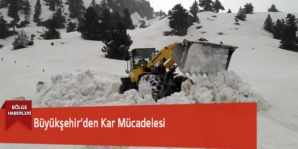 Büyükşehir'den Kar Mücadelesi