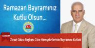 Ziraat Odası Başkanı Cüce Hemşehrilerinin Bayramını Kutladı