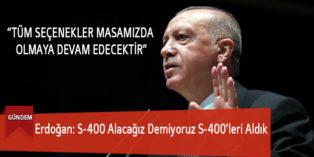 Erdoğan: S-400 Alacağız Demiyoruz S-400'leri Aldık
