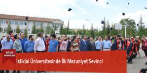 İstiklal Üniversitesinde İlk Mezuniyet Sevinci