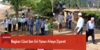 Başkan Cüce'den Evi Yanan Aileye Ziyaret