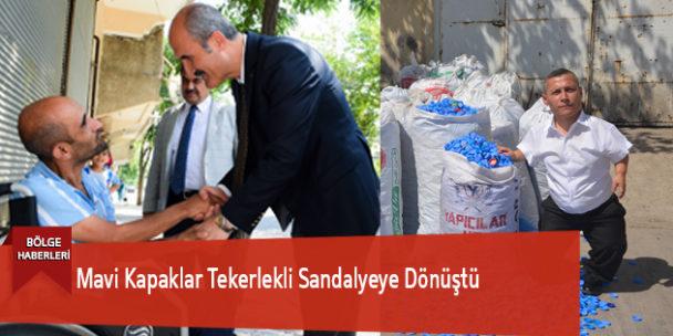 Dulkadiroğlu'nda Mavi Kapaklar Tekerlekli Sandalyeye Dönüştü